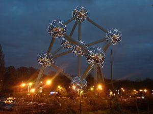 Atomium à Noël - Bruxelles