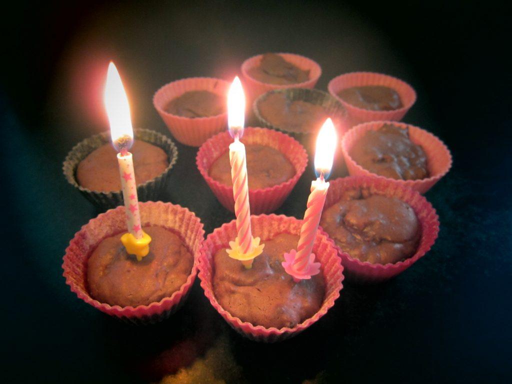 fondant au chocolat noir anniversaire