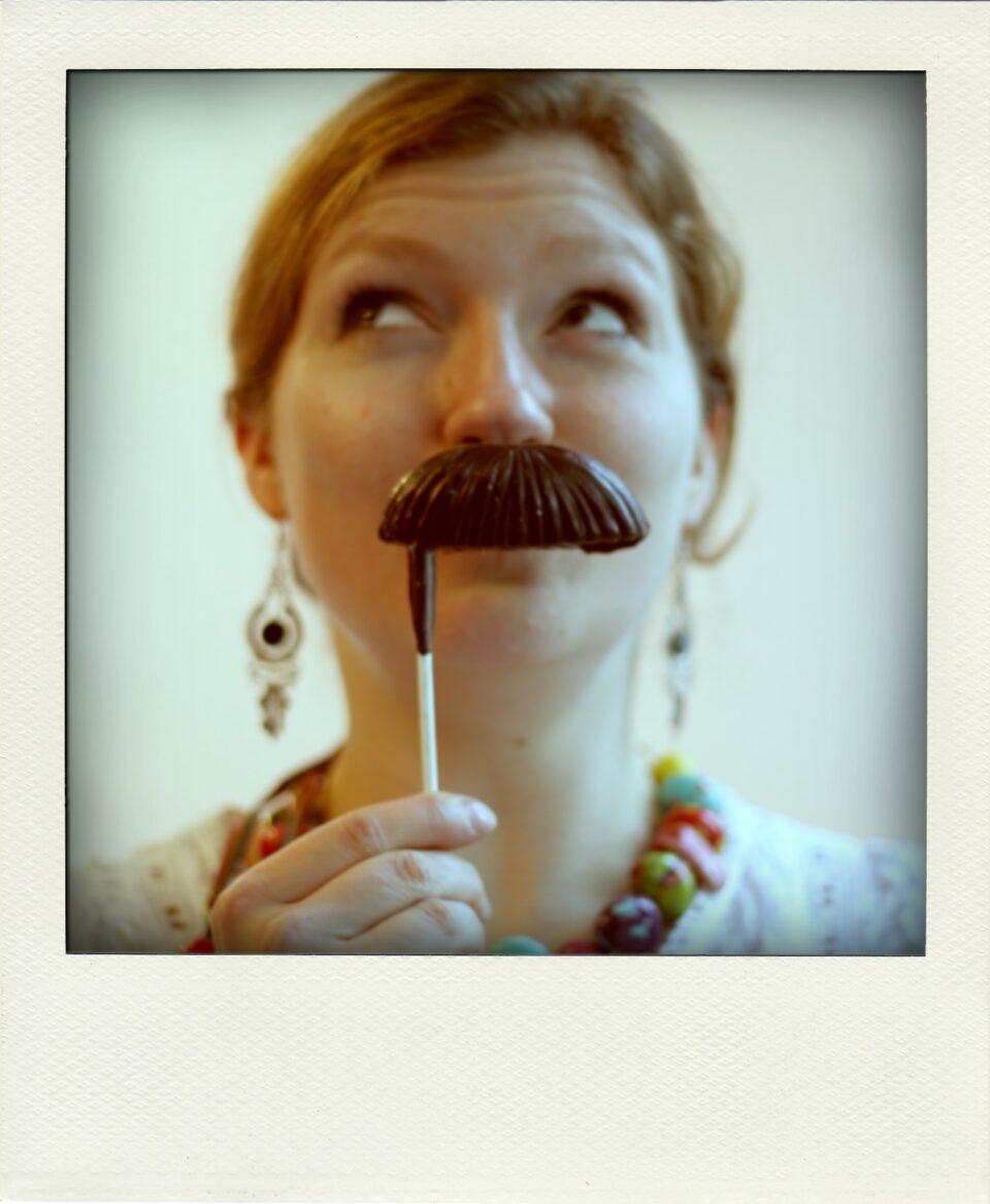 Moustaches en chocolat