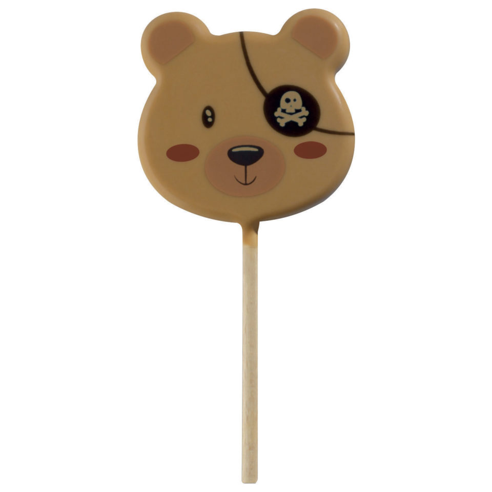 sucette ours pirate en chocolat