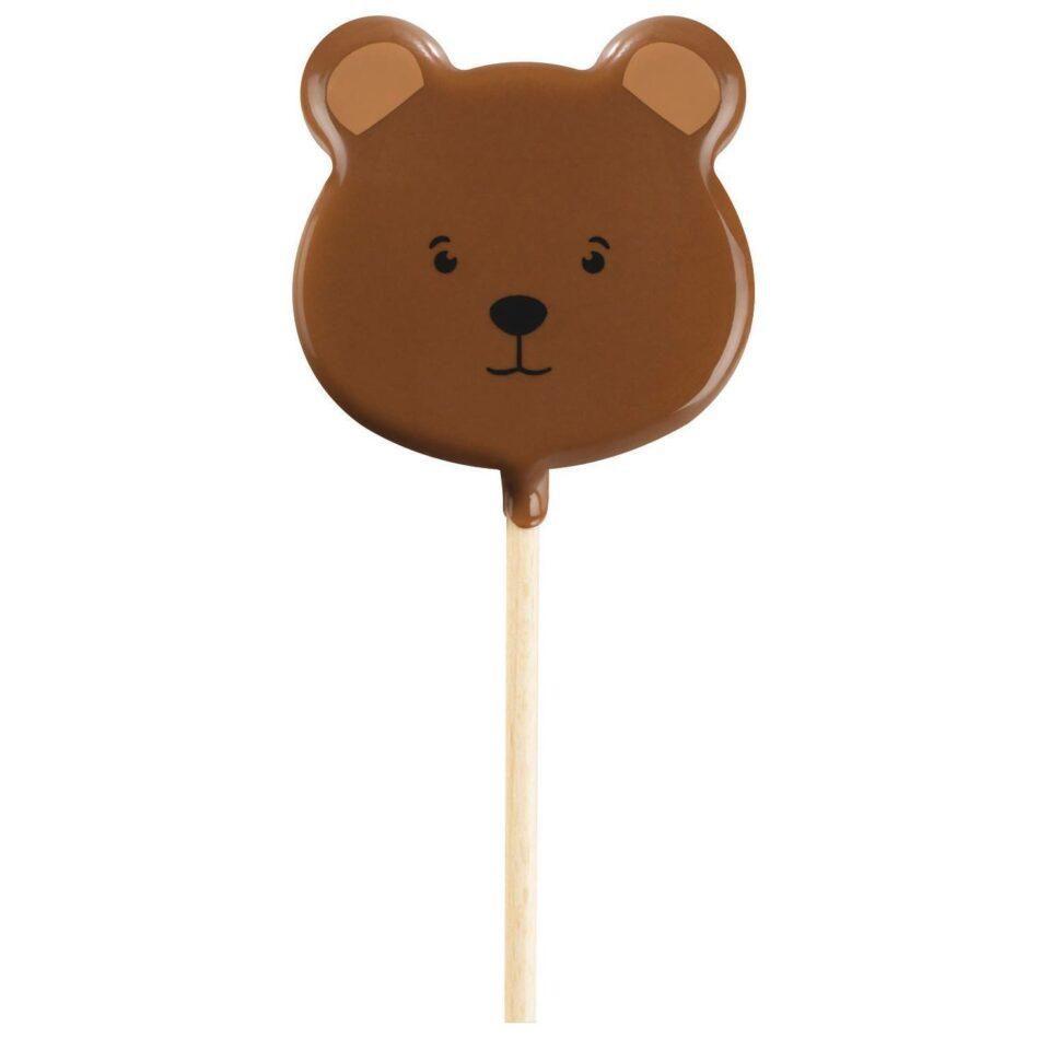 sucette ours en chocolat