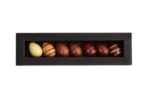 Reglette d'oeufs en chocolat