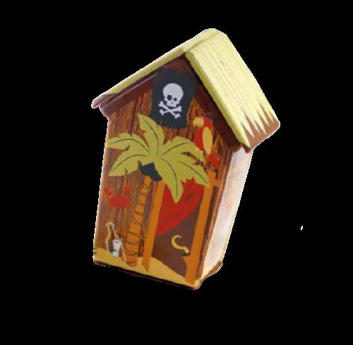 cabane pirate en chocolat